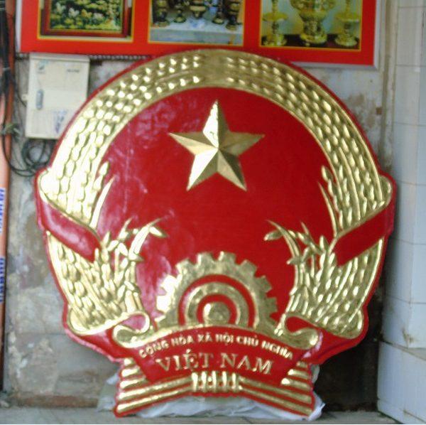 quốc huy treo cơ quan bằng đồng