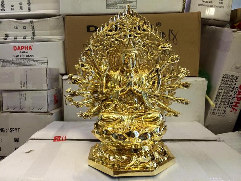 tượng phật chuẩn đề bồ tát mạ vàng