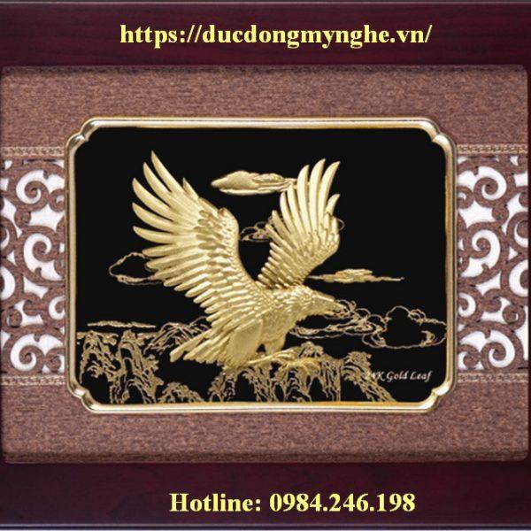 tranh đại bàng mạ vàng