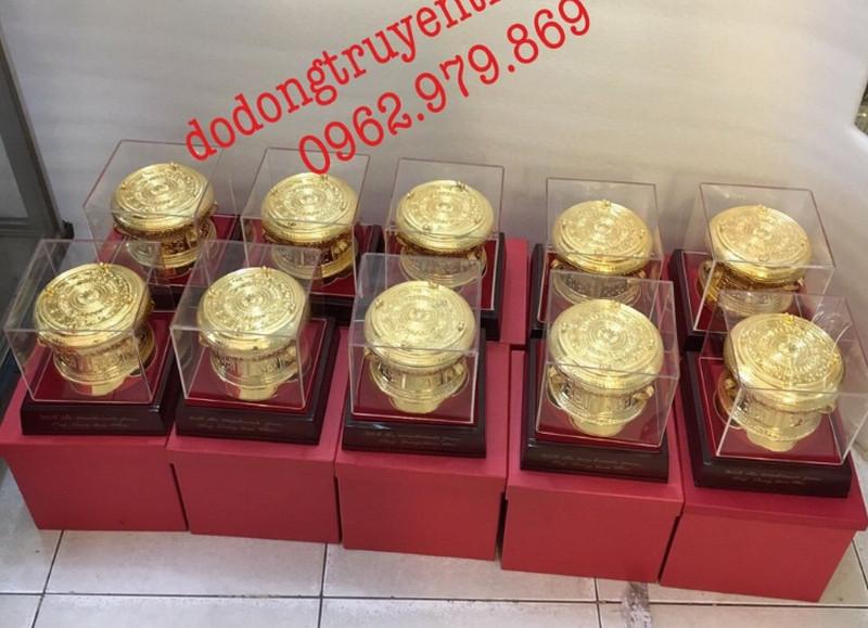 trống đồng lưu niệm mạ vàng