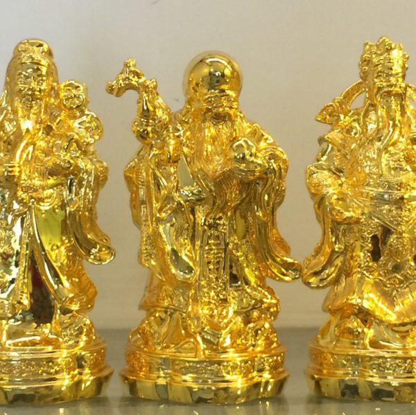 tượng đồng tam đa mạ vàng