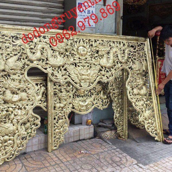 cửa võng bằng đồng thờ gia tiên