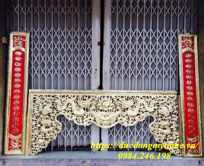 cửa võng thờ bằng đồng