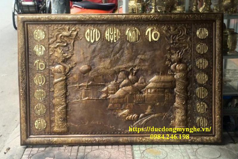 tranh đồng thờ cúng gia tiên cửu huyền thất tổ