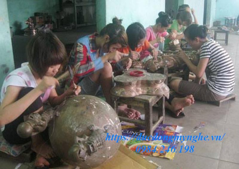 sản xuất lư đồng