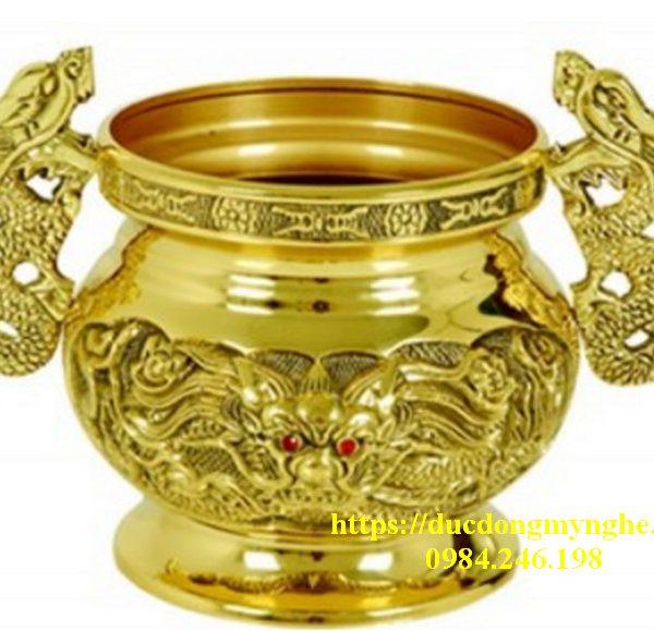bát hương bằng đồng Dapha đúc tai rồng