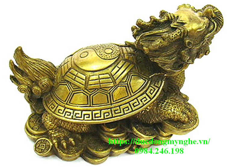 rùa đầu rồng bằng đồng