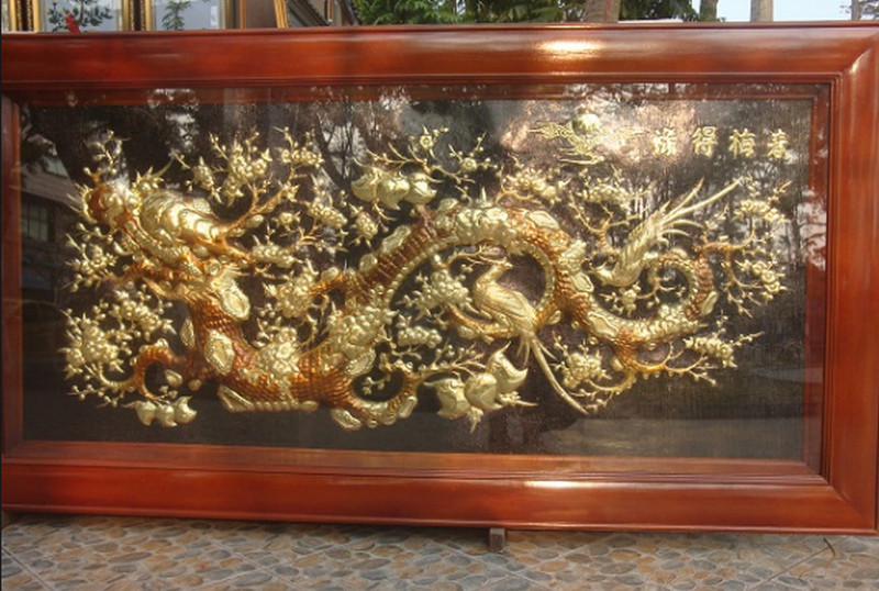 tranh hoa mai hóa rồng