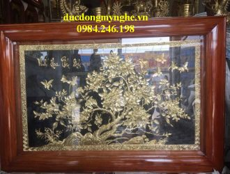 tranh vinh hoa phú quý dát vàng